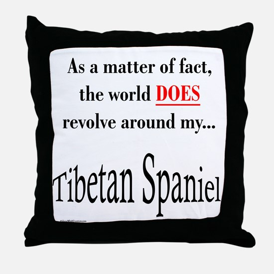 Tibbie World Throw Pillow