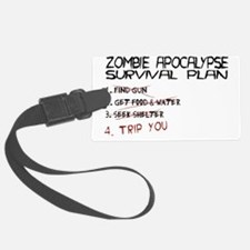 ZombieApSurvivalBLK Luggage Tag