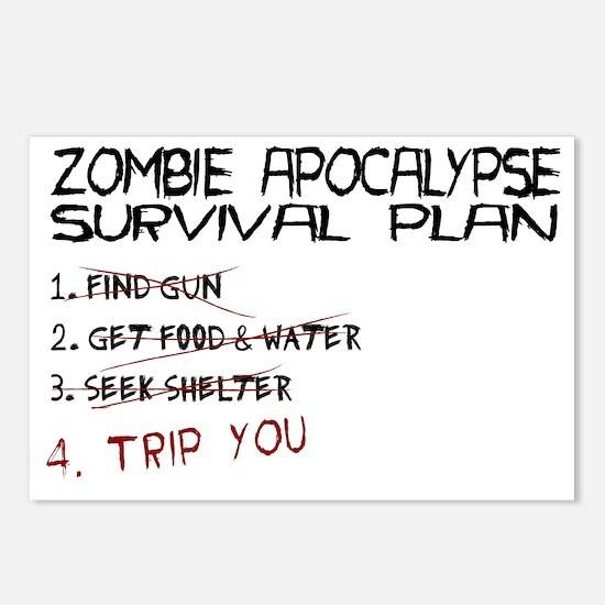 ZombieApSurvivalBLK Postcards (Package of 8)