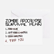 ZombieApSurvivalBLK Greeting Card