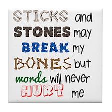 sticksandstones copy Tile Coaster