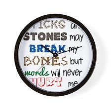 sticksandstones copy Wall Clock