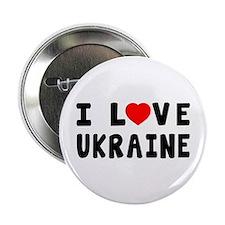 """I Love Ukraine 2.25"""" Button"""