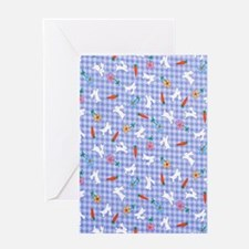 Bunnies On Gingham Greeting Card