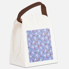 Bunnies On Gingham Canvas Lunch Bag