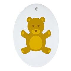 Teddy Bear Oval Ornament