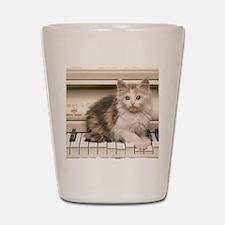 Piano kitty shirt Shot Glass