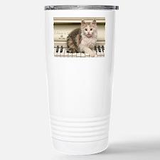 Piano kitty shirt Stainless Steel Travel Mug