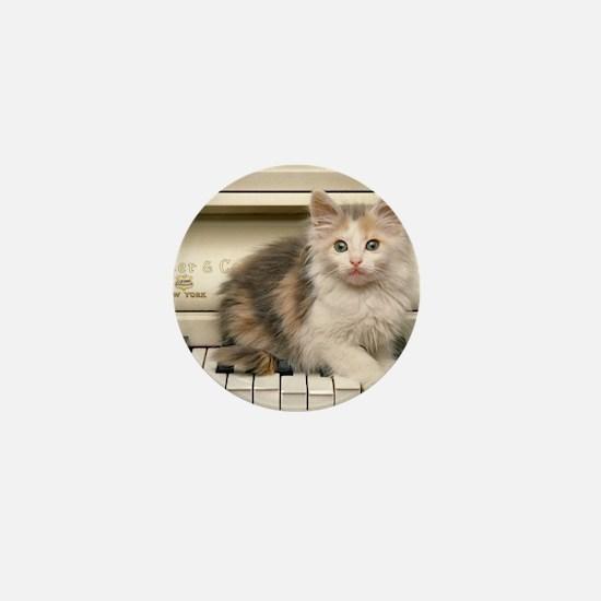 Piano kitty shirt Mini Button