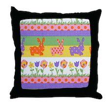 Bunny Flower Throw Pillow