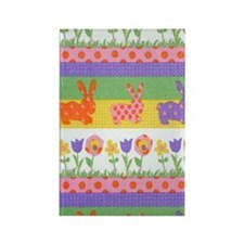 Bunny Flower Rectangle Magnet