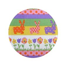 "Bunny Flower 3.5"" Button"