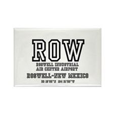 AIRPORT CODES - ROW - ROSWELL, NE Rectangle Magnet