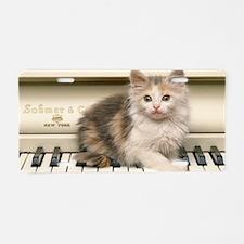 piano kitten clutch Aluminum License Plate