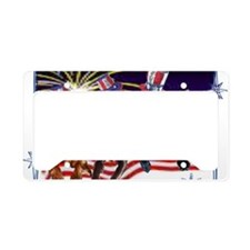 4th of july License Plate Holder