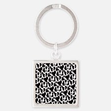 Cow Hide Square Keychain