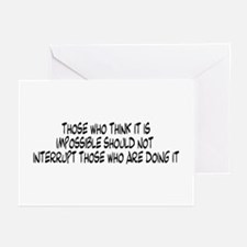 Those who think it is impossi Greeting Cards (Pack