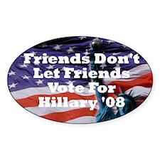 Hillary/Kennedy Oval Decal