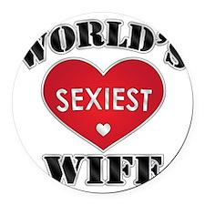 worldssexiestwife Round Car Magnet