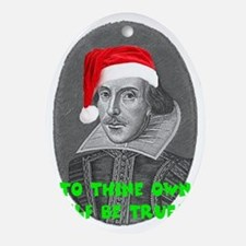 To Thine Own Elf Be True Oval Ornament