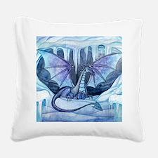 ice dragon square cp Square Canvas Pillow