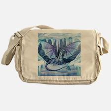 ice dragon square cp Messenger Bag