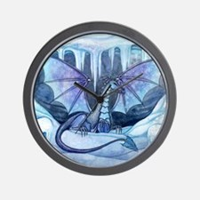 ice dragon square cp Wall Clock