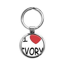 IVORY Round Keychain