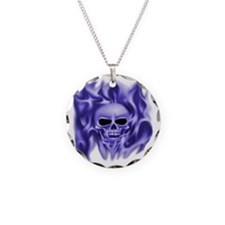 scull t-shirt blue cp ts Necklace