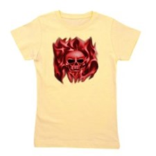 scull t-shirt Red cp ts Girl's Tee