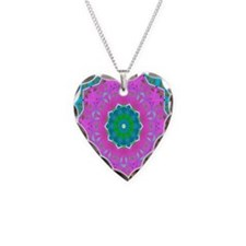 pinklace1 Necklace Heart Charm