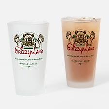 GRIZZLYLAND_ Drinking Glass