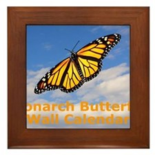 Monarch Butterfly Wall Calendar Framed Tile