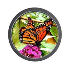 Monarch Butterfly Wall Calendar Page, C Wall Clock