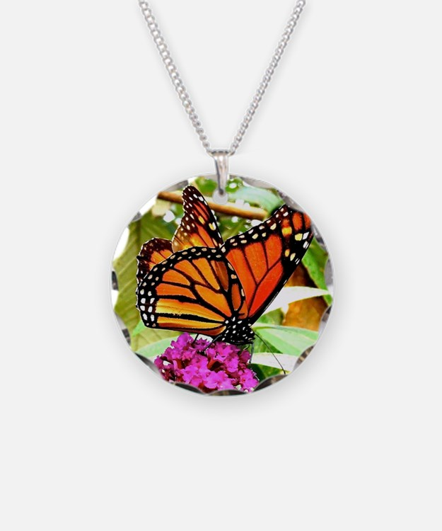 Monarch Butterfly Wall Calen Necklace
