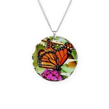 Monarch Butterfly Wall Calen Necklace Circle Charm