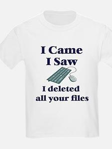 I Deleted Kids T-Shirt