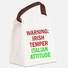 WARNINGIRISHTEMPER ITALIAN ATTITU Canvas Lunch Bag