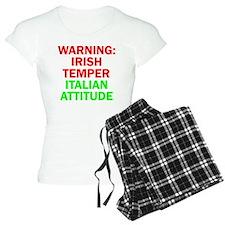 WARNINGIRISHTEMPER ITALIAN  Pajamas