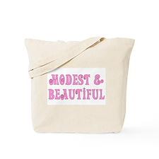 Modest & Beautiful (pink) Tote Bag