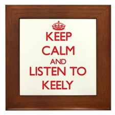 Keep Calm and listen to Keely Framed Tile