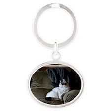 olivia3 Oval Keychain