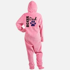 D Boxer Dad 2 Footed Pajamas