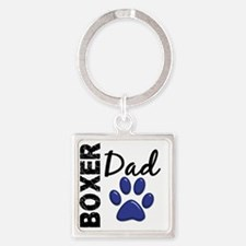 D Boxer Dad 2 Square Keychain