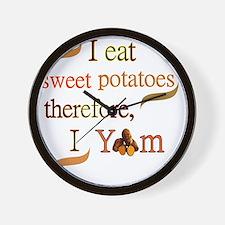 Sweet Potatoes Wall Clock