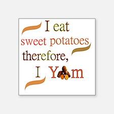 "Sweet Potatoes Square Sticker 3"" x 3"""