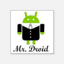 """Mr. Droid.gif Square Sticker 3"""" x 3"""""""