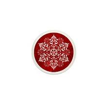 elegantsnow_ornment Mini Button