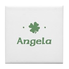 """Shamrock - Angela"" Tile Coaster"