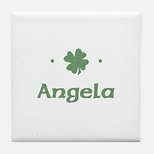 """""""Shamrock - Angela"""" Tile Coaster"""